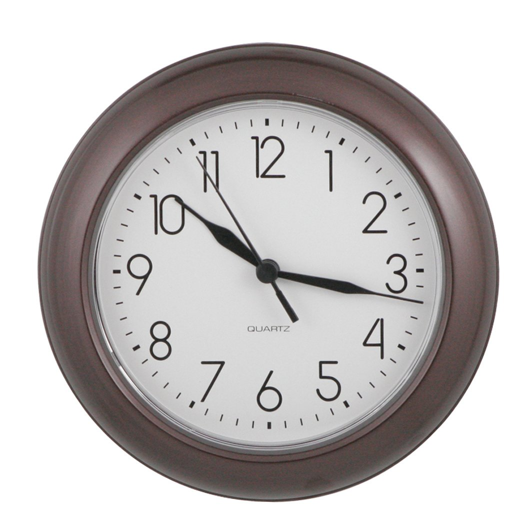 ITC (32000-TF-DB) 8-Inch Truffle Round Clock