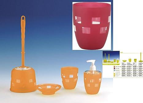 Accessori Per Il Bagno Colorati : Scopino wc di colore: rosso di accessori per il bagno selina