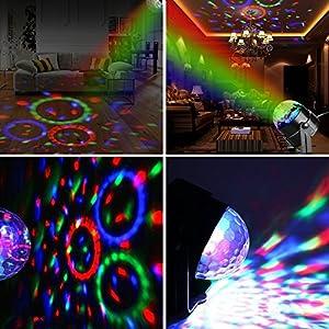 61O7eNXlBQL. SS300  - Zacfton-Mini-LED-Lichteffekte-Disco-Licht-Party-Licht-Bhnenbeleuchtung-3W-RGB-Sprachaktiviertes-Kristall-Magic-Ball-Bhnenlicht-fr-KTV-Xmas-Party-Hochzeits-Show-Club-mit-Fernbedienung
