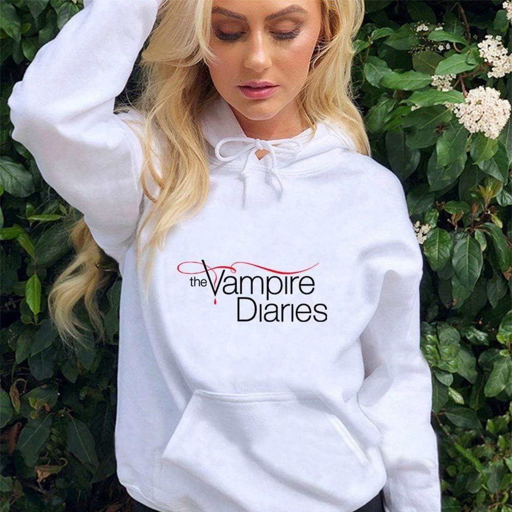 The Vampire Diaries Felpe con cappuccio Uomo//Donne Manica Lunga Hodies Pullover Felpe Casual Oversize Unisex Vestiti