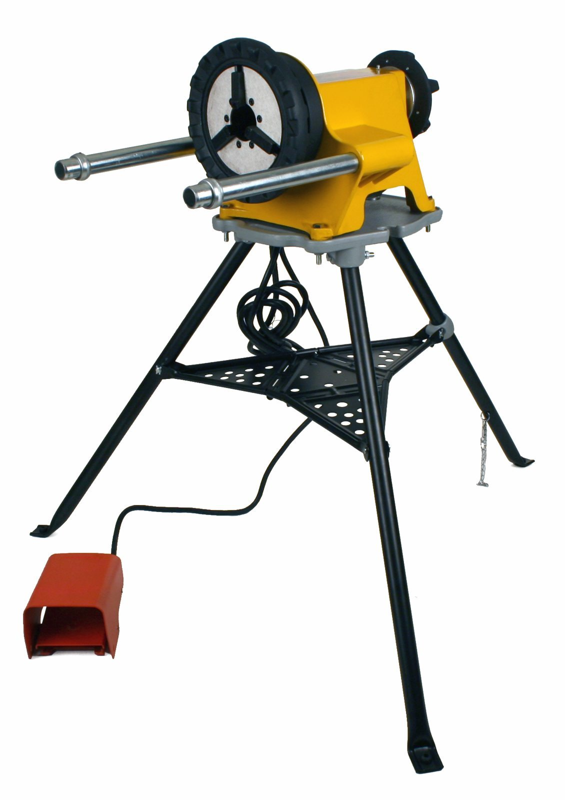 Steel Dragon Tools 300 Power Drive and 1206 Stand for Roll Grooving or Pipe Threading fits RIDGID 41855 42360