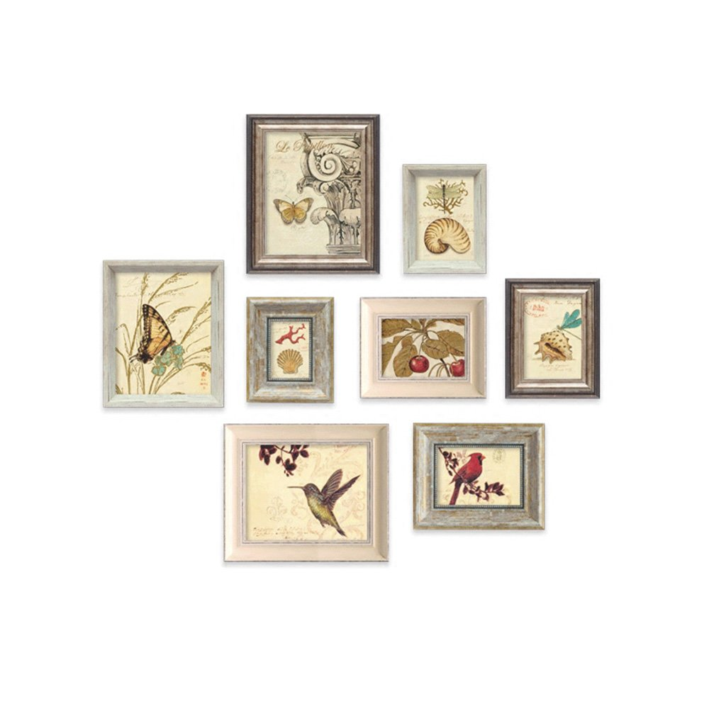 Unbekannt Fotorahmen Wand 8 Bilderrahmen Gallery Kit beinhaltet: Frames, Wand Vorlagen, Kunst Malerei Core -LI JING SHOP