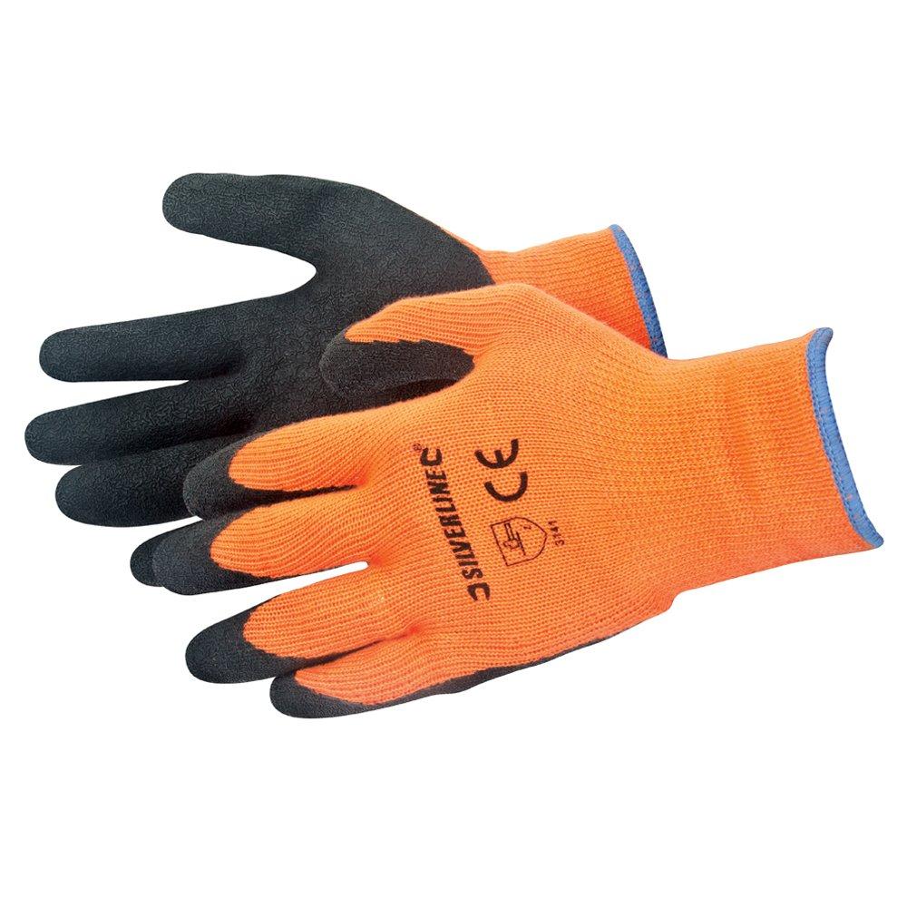 Silverline 736809 Gants haute visibilit/é Taille Unique Orange