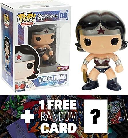 Wonder Woman - New 52 (Preview Exclusive): Funko POP! x DC Universe Vinyl Figure + 1 FREE Official DC Trading Card Bundle (New Funko Pop Supernatural)