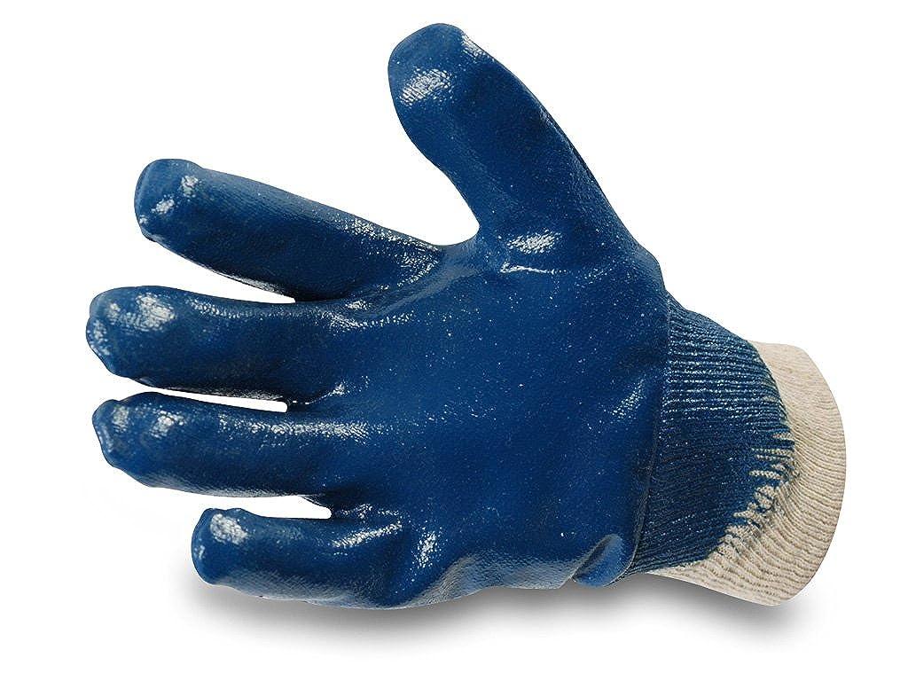 Enviro Glove 12x blauer Nitril-Handschuh - sehr flexible Arbeitshandschuhe - Ö l- und Fett abweisend - Schutzhandschuhe nach Norm 388-3111 in Grö ß e 10 Asup GmbH