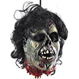 Wrightus Halloween Props Scary Hanging Severed Head Decorations,Life-Size Bloody Cut off Corpse Head Ghost Animated Zombie Head for Haunted Houses Party Decor Funny Festive Supplies