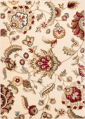 Well Woven Barclay Ashley Oriental Ivory Floral Area Rug 3'11'' X 5'3''
