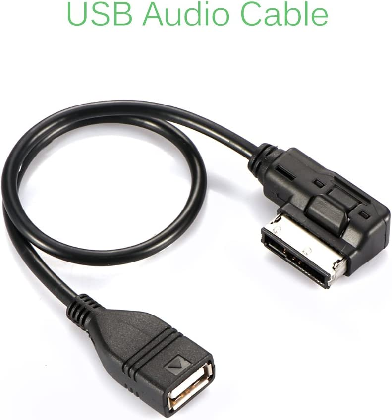AOZBZ AMI MDI MMI AUX to USB Cable Car Audio Music Interface Data Charging Adapter Support Card Reader MP3 MP4 for AUDI VW Davitu Cables Adapters /& Sockets