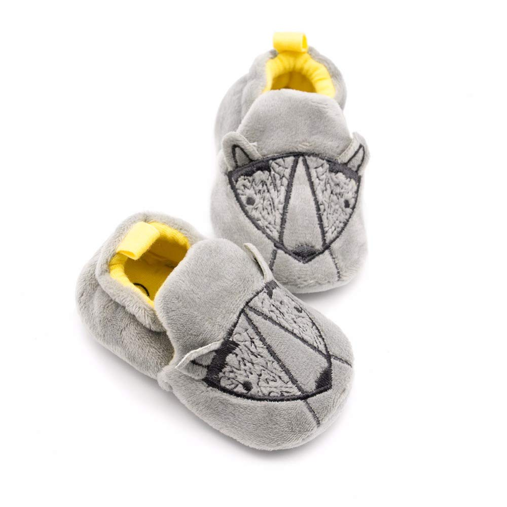 Amazon.com : LooBooShop Gray Donkey Crib Shoes SOFE Sole Slip-on Baby Boy Shoes Newborn Baby Slippers Prewalker Sapatos Infantil Chaussure fille 0-18M : ...