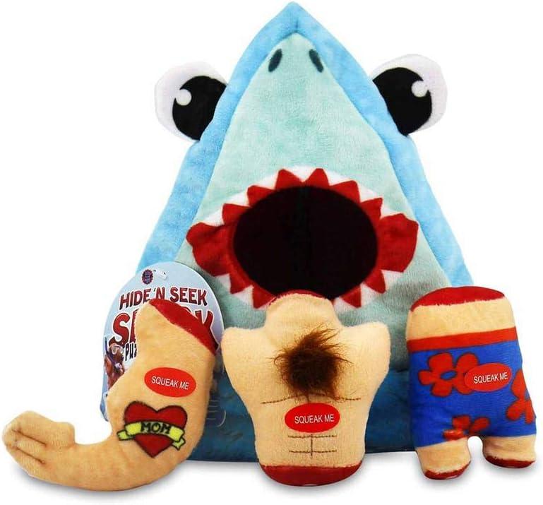 Bow Wow Dog Toy, Shark Hide & Seek, Taco Plush Dog Toy, Pet Set Teeth