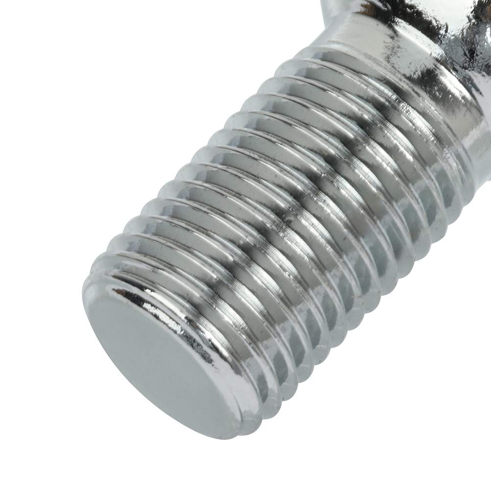 SCITOO Lug Bolts M14x1.5 Wheel Bolt 14x1.5 20 Pieces Silver Shank Length 24mm Compatible with for Audi for Mercedes for VW