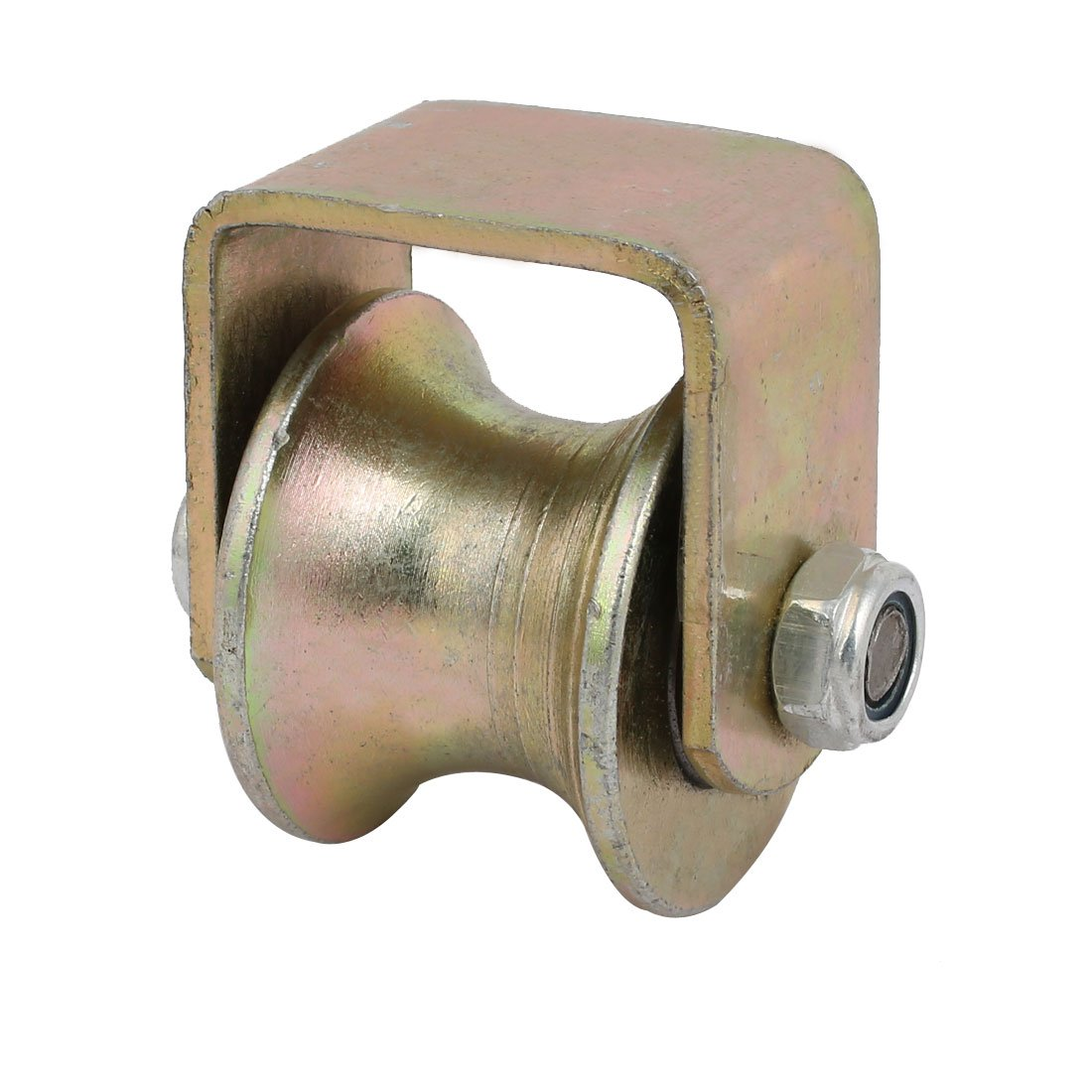 uxcell 2.4-inch Dia 500KG Capacity U Groove Rigid Caster Wheel for Industrial Machines