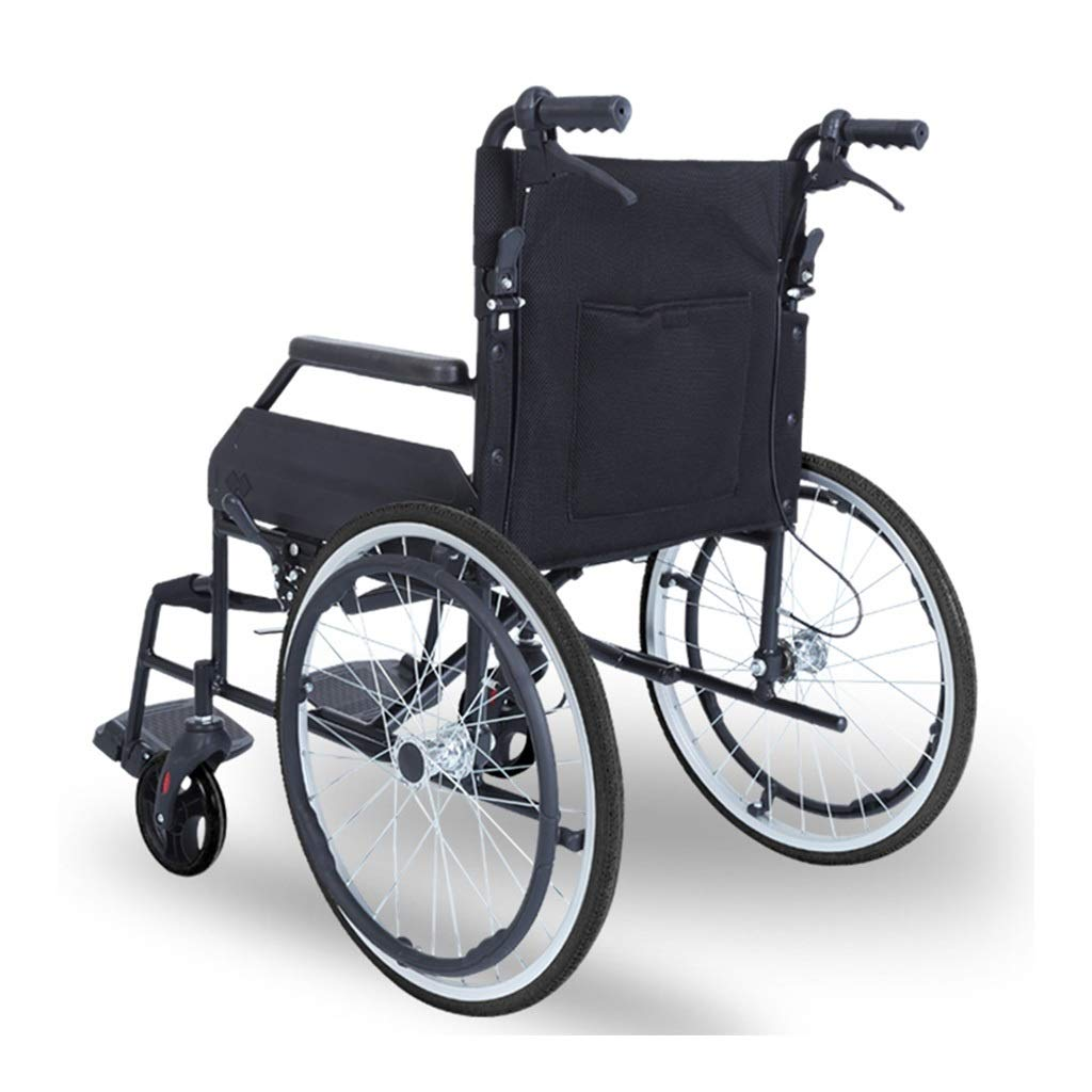MLX Folding Elderly Wheelchairs, Elderly Trolleys, Scooter Wheelchairs, Shockproof Solid Tires, Suitable for People with Disabilities by MLXCY