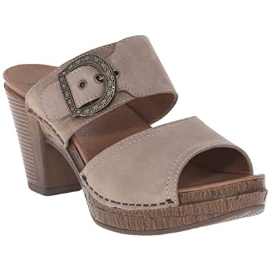 Dansko Ramona Women Slides Sandals, Taupe Milled Nubuck, Size - 40