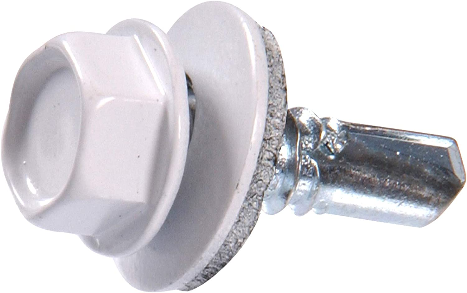 1-Pound 2 Pack The Hillman Group 48049 14 X 7//8-Inch White Painted Head Lap Stitch Screw