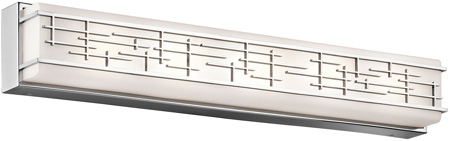 Kichler 45831CHLED, Zolon Glass Wall Vanity Lighting with Shades LED, Chrome