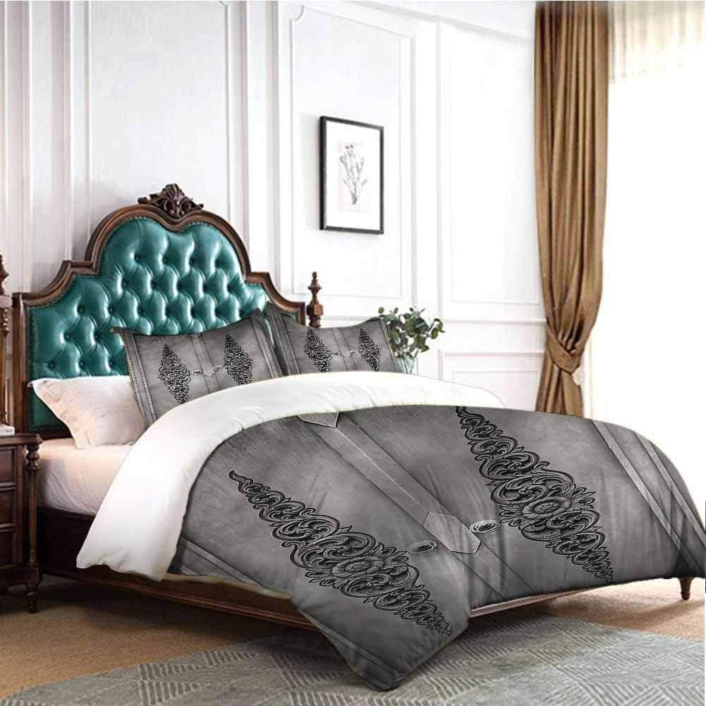 Jktown Antique Bedding Duvet Cover 3 Piece Set Antique Floral Pattern Bedding Set for Men, Women, Boys and Girls Twin
