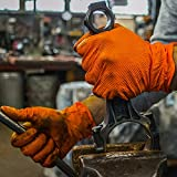 GLOVEWORKS HD Industrial Orange Nitrile Gloves with