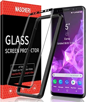 MASCHERI Protector de Pantalla para Samsung Galaxy S9 Plus, [3D ...