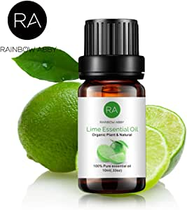 RAINBOW ABBY Lime Essential Oil, 100% Pure Organic Natural Aromatherapy Lime oil for Diffuser (10ml)