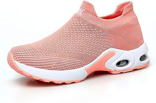 Zapato para Correr para Mujer Suela De Goma Transpirable + Amortiguador De Aire De Primavera Primavera Otoño Deportes Y Ocio Calzado De Mujer Estudiante Salvaje Marea Femenina,Orange,41: Amazon.es: Hogar