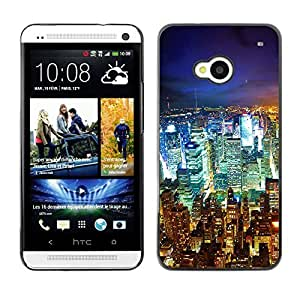 Graphic4You New York City Postcard Design Hard Case Cover for HTC One (M7)