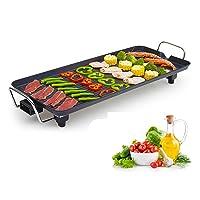 Teppanyakigrill klein schwarz Hot Plate Balkon ✔ eckig ✔ Grillen mit Elektrogrill ✔ für den Tisch