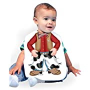 Just Add A Kid Baby Boy's Cowboy 247 Baby Bib 0-6 Months White