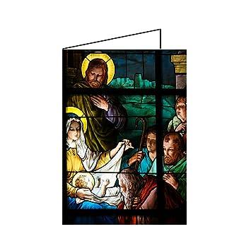 10er Set Christliche Weihnachtskarten Klappkarten A6 religiöse ...