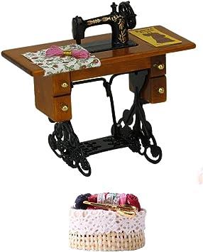 Amazon.es: Gazechimp 1/12 Casa de Muñeca Mini Máquina de Coser de ...
