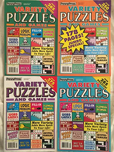 (Lot of 4 Penny Press Variety Puzzles Word Games Puzzle Book 2014)