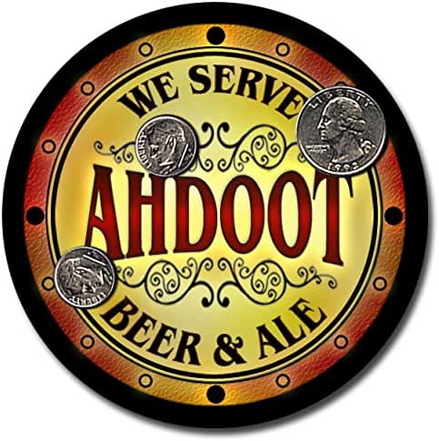 Ahdoot Family Name Beer and Ale Rubber Drink Coasters - Set of 4