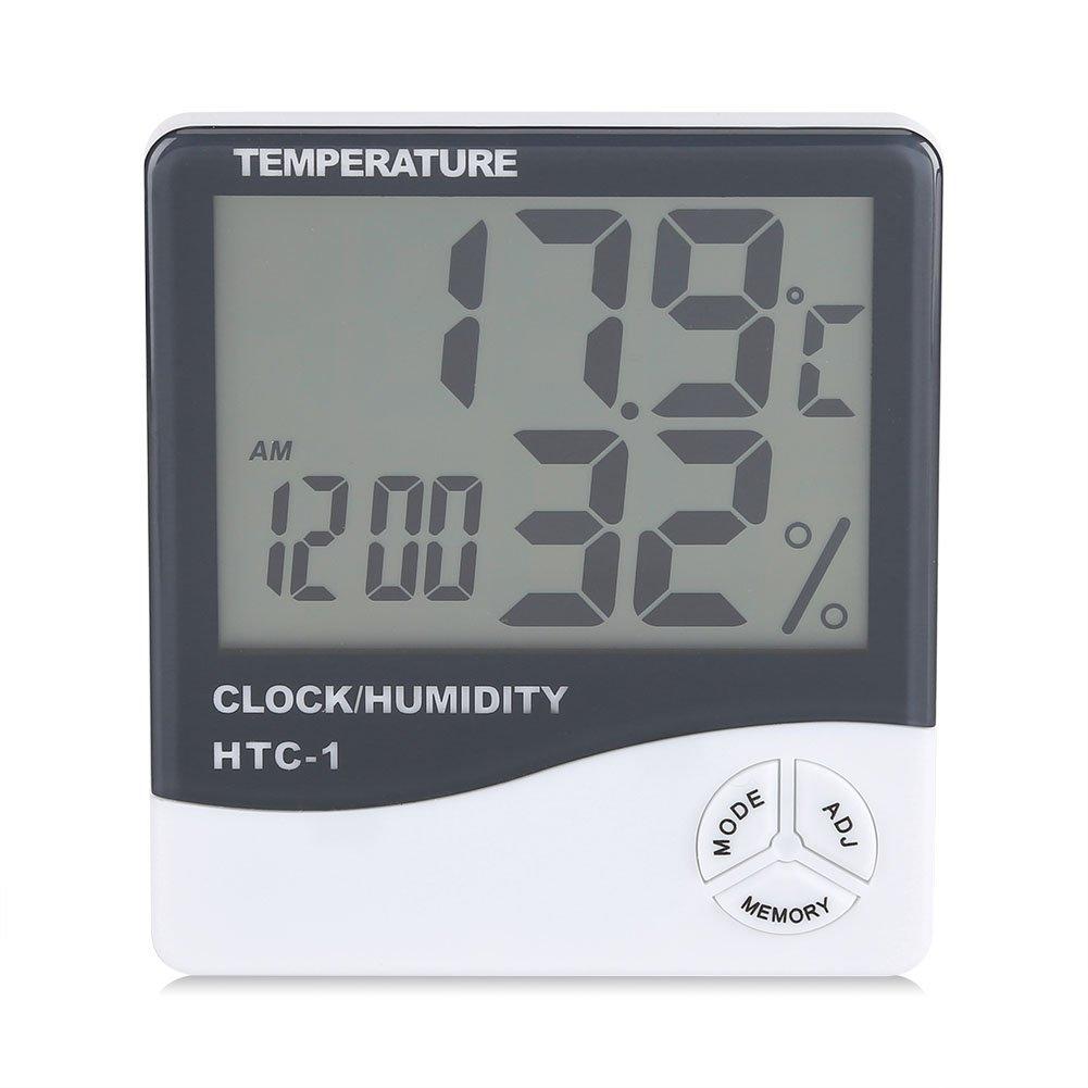Thermometer Feuchtigkeit Monitor Temperatur Messgerä t Innen Digital LCD Anzeige drahtloses Hygrometer mit Wecker Fdit