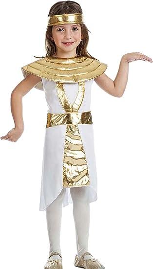 Kimokawaii Disfraz EGIPCIA Talla 10-12 AÑOS TAMAÑO Infantil ...
