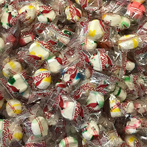 Bulk Soft Mints 4 Pound Box Individually Wrapped Assorted Variety of Flavors Including Peppermint, Wintergreen, Grape, Orange and More -