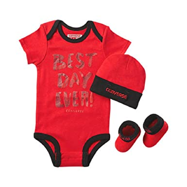 80f84695a182 Amazon.com  Converse Infant 3 Piece Baby Set (0-6 Months