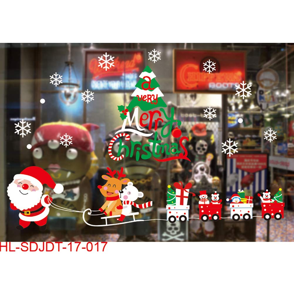 DDG EDMMS Snowman window stickers with stickers Christmas winter wonderland decorative murals Christmas Decorations