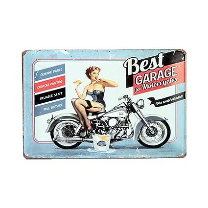 4da0b2c7c Amazon.com  Pin-Up Girl Best Garage Motorcycles Bike Wash Tag 11.75 ...