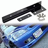 GTP Front Bumper License Plate Relocator Holder Bracket Mounting Bar ~ Universal Fit ~ Classic Black