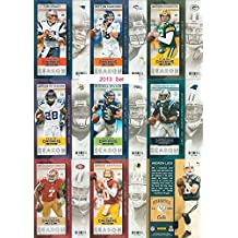 2013 Panini Contenders NFL Football Series Complete Mint 100 Card Veteran Players Set Including Peyton Manning, Tom Brady, Russell Wilson, Colin Kaepernick, Andrew Luck, Aaron Rodgers and Many Others