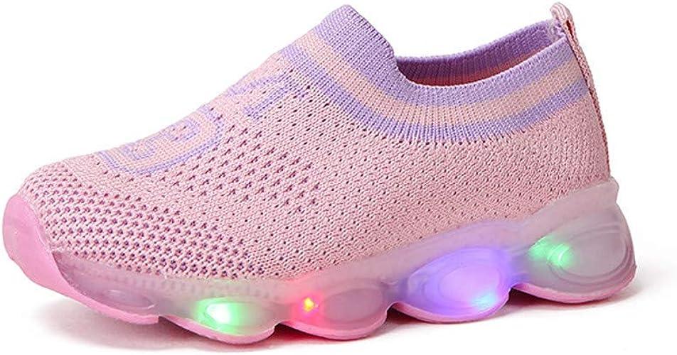 Topgrowth - Zapatillas LED Unisex para niños, Luminosas al Aire Libre, Zapatillas Deportivas para niños con Luces, Ligeras, Transpirables, Zapatillas de Tenis para niño Size: 24 EU/23 CN: Amazon.es: Zapatos y complementos