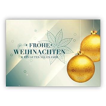 1 Klassisch Edle Weihnachtskarte Mit Umschlag Privat