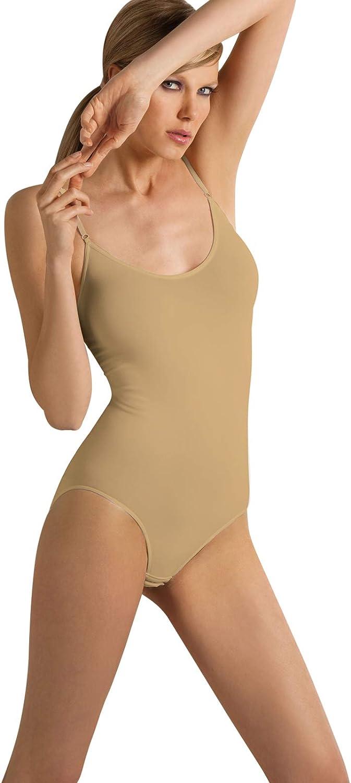 SENSI Body Donna Canotta Spalline Regolabili Microfibra Traspirante Senza Cuciture Seamless Made in Italy