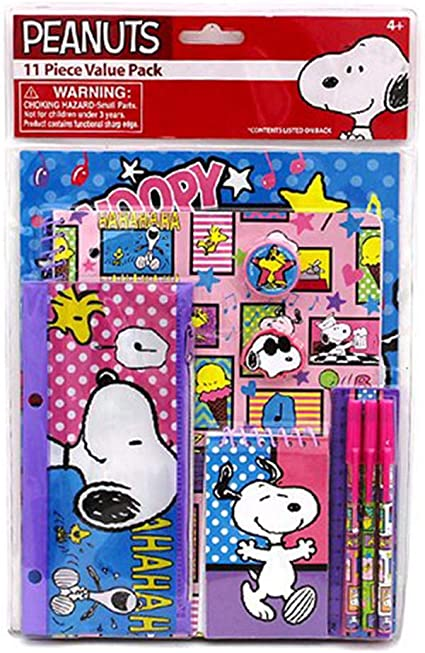 Snoopy escuela papelería set 11 piezas Valor Pack: Amazon.es ...