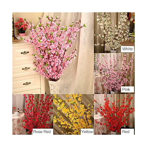 Pannow-5Pcs-Spring-Peach-Blossom-Cherry-Plum-Bouquet-Branch-Silk-FlowerArtificial-Flowers-Fake-Flower-for-Wedding-Home-Office-Party-Hotel-Yard-Decoration