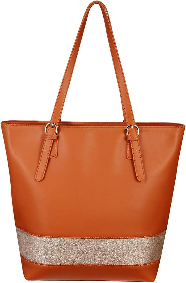 TENDYCOCO Tote Bag PU Leather Top Handle Satchel Designer Purses and Handbags Shoulder Tote Bag for Women