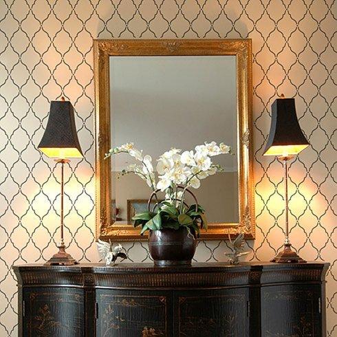 Moorish Delight Allover Stencil - Size SMALL - DIY Home Decor - Easy DIY Wall Designs - Stencils for Interior Decorating - By Cutting Edge ()