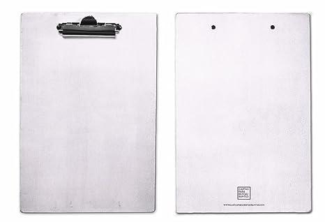 Ufficio Legno Bianco : Pack 5 supporti in legno color bianco din a4 portablocco con pinza