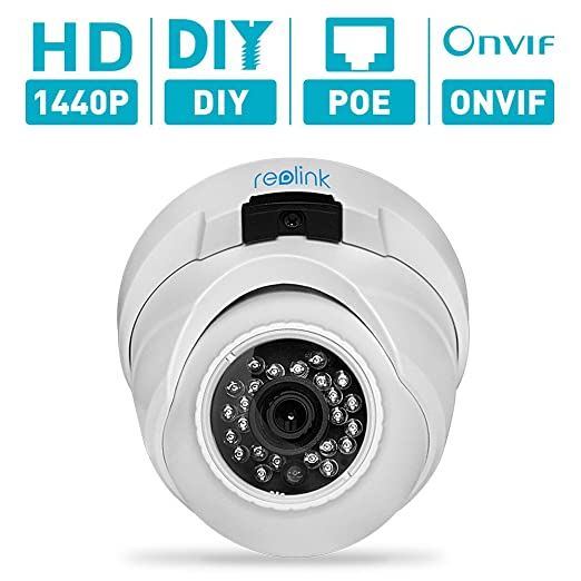 6 opinioni per Reolink RLC-420 4MP(1440p) HD Fixed Lens PoE Dome Outdoor Security IP Camera for