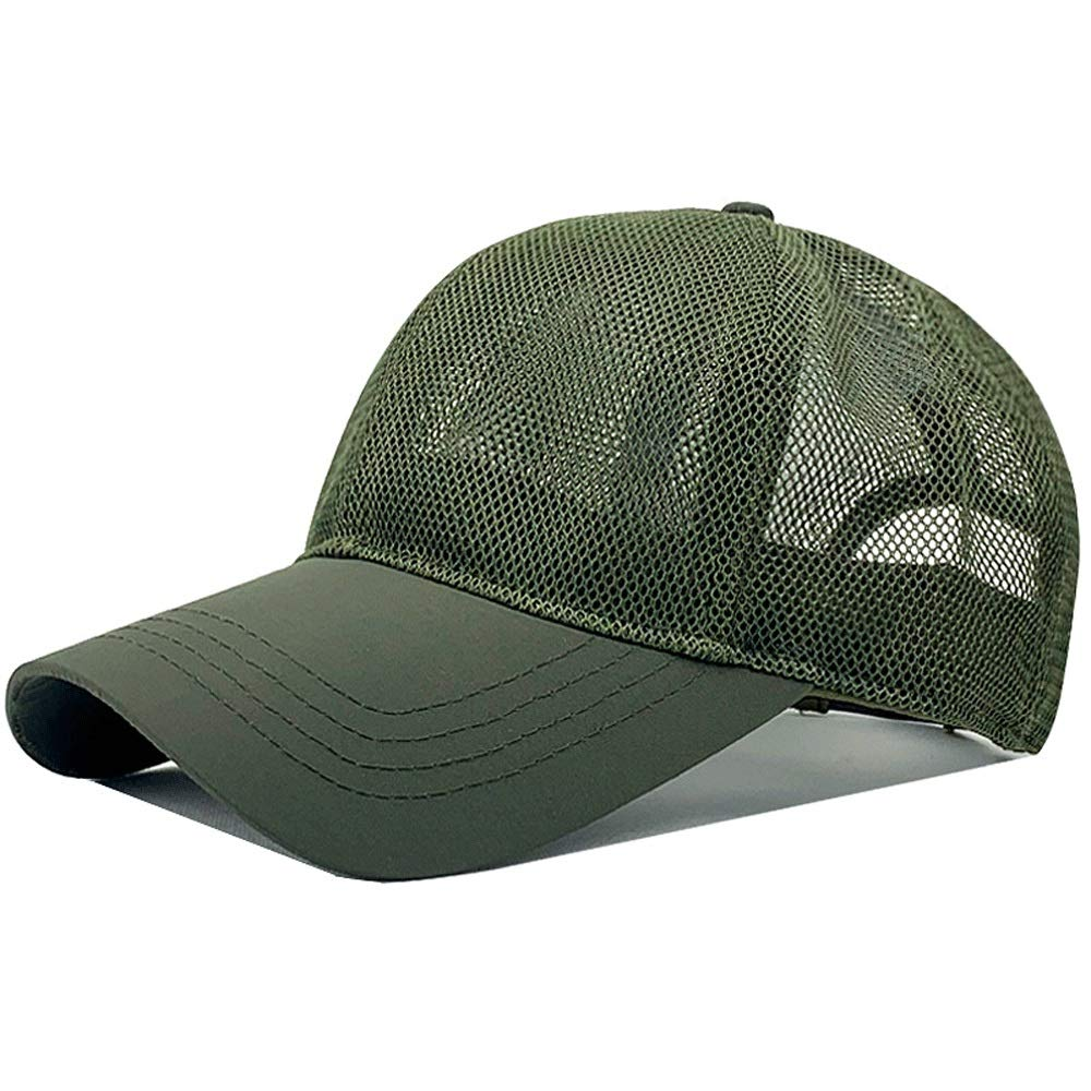 Hats Male Summer Breathable Simple mesh Large Size Outdoor Baseball Cap Big Head Around Leisure Cap Visor Thin mesh Breathable Caps (Color : Green) by Hats